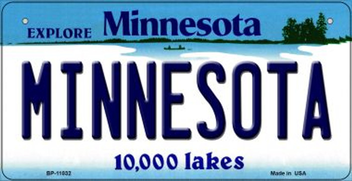 Minnesota Novelty Metal Bicycle Plate BP-11032