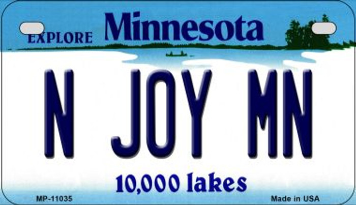 N Joy MN Minnesota Novelty Metal Motorcycle Plate MP-11035