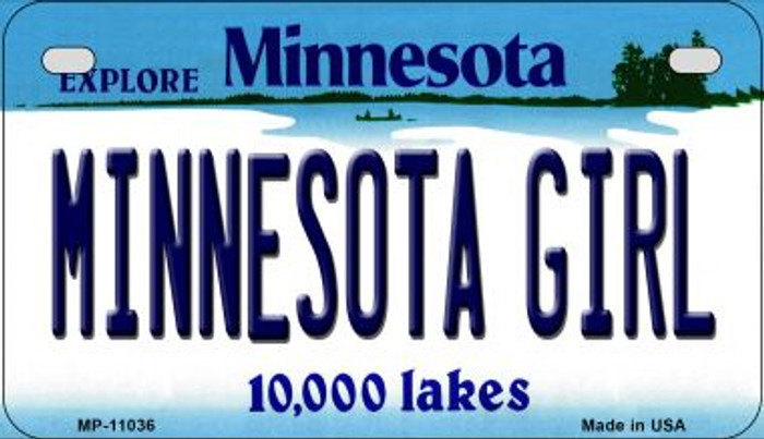 Minnesota Girl Novelty Metal Motorcycle Plate MP-11036