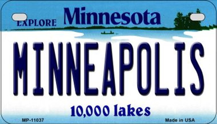 Minneapolis Minnesota Novelty Metal Motorcycle Plate MP-11037