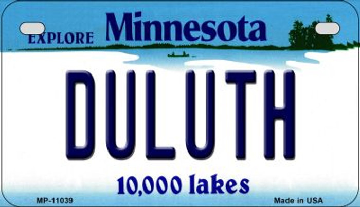 Duluth Minnesota Novelty Metal Motorcycle Plate MP-11039