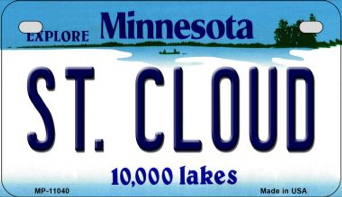 St Cloud Minnesota Novelty Metal Motorcycle Plate MP-11040