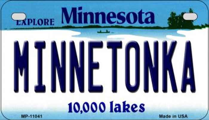 Minnetonka Minnesota Novelty Metal Motorcycle Plate MP-11041