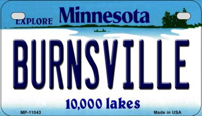 Burnsville Minnesota Novelty Metal Motorcycle Plate MP-11043