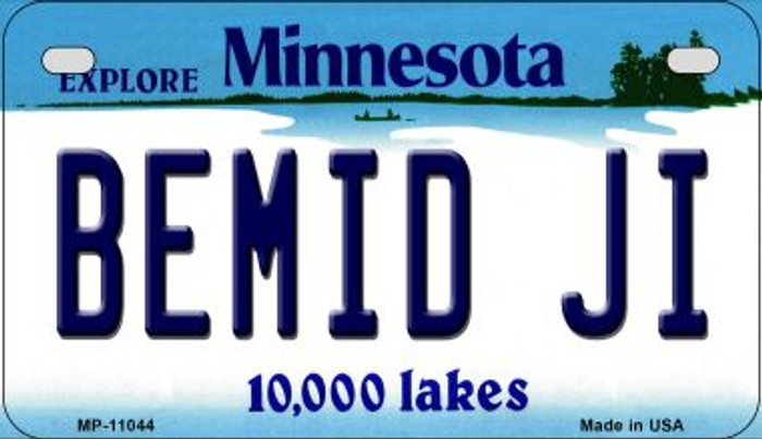 Bemid Ji Minnesota Novelty Metal Motorcycle Plate MP-11044