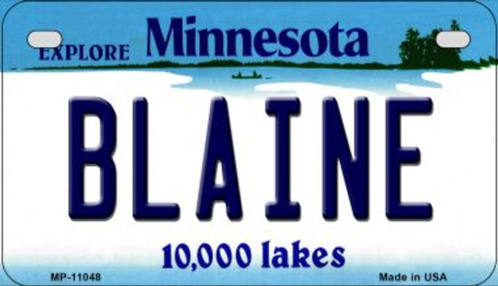 Blaine Minnesota Novelty Metal Motorcycle Plate MP-11048
