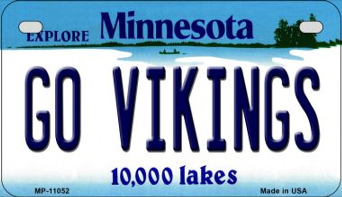 Go Vikings Minnesota Novelty Metal Motorcycle Plate MP-11052
