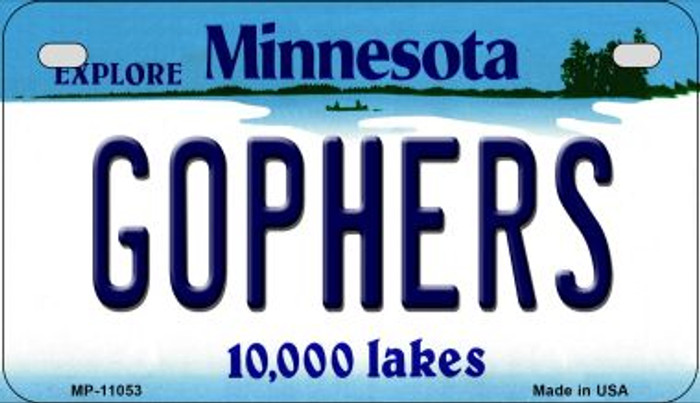 Gophers Minnesota Novelty Metal Motorcycle Plate MP-11053