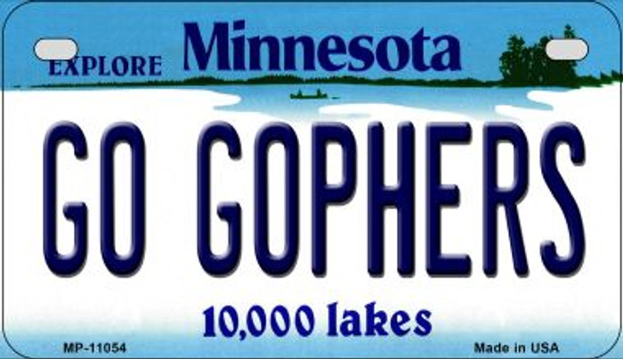 Go Gophers Minnesota Novelty Metal Motorcycle Plate MP-11054