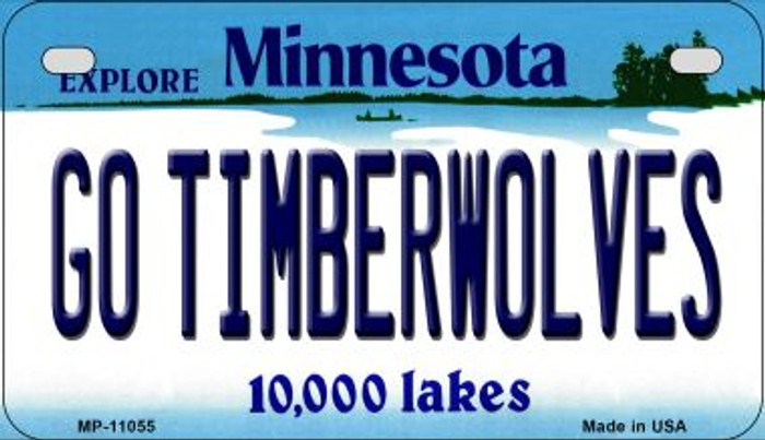 Go Timberwolves Minnesota Novelty Metal Motorcycle Plate MP-11055