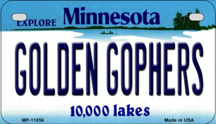 Golden Gophers Minnesota Novelty Metal Motorcycle Plate MP-11056