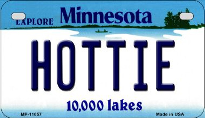 Hottie Minnesota Novelty Metal Motorcycle Plate MP-11057