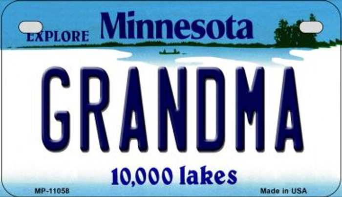 Grandma Minnesota Novelty Metal Motorcycle Plate MP-11058