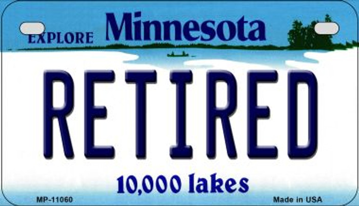 Retired Minnesota Novelty Metal Motorcycle Plate MP-11060