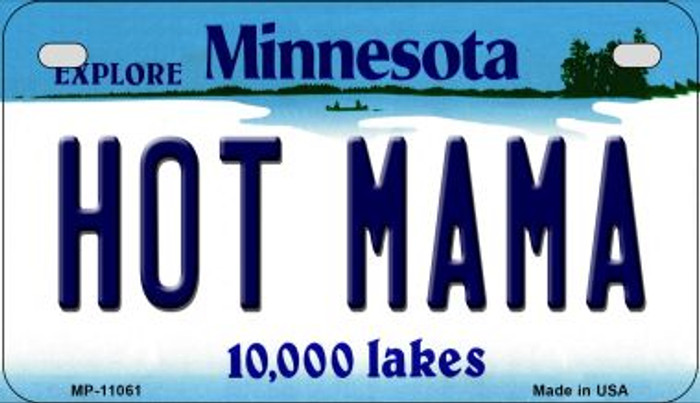 Hot Mama Minnesota Novelty Metal Motorcycle Plate MP-11061
