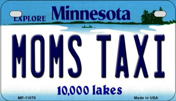Moms Taxi Minnesota Novelty Metal Motorcycle Plate MP-11070