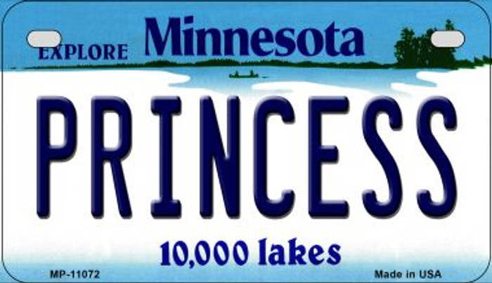 Princess Minnesota Novelty Metal Motorcycle Plate MP-11072