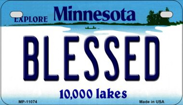 Blessed Minnesota Novelty Metal Motorcycle Plate MP-11074