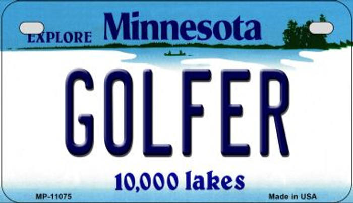 Golfer Minnesota Novelty Metal Motorcycle Plate MP-11075