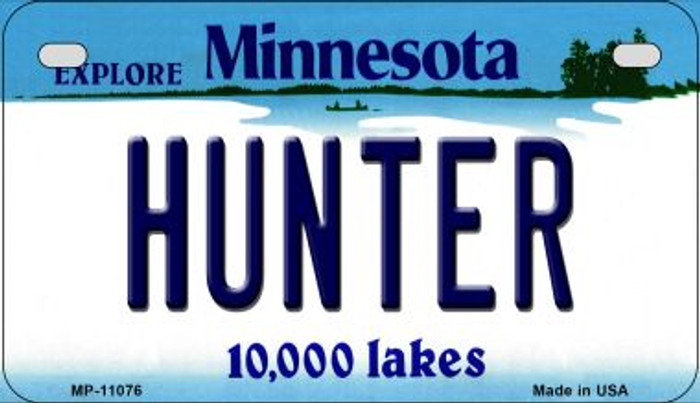 Hunter Minnesota Novelty Metal Motorcycle Plate MP-11076