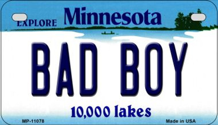 Bad Boy Minnesota Novelty Metal Motorcycle Plate MP-11078