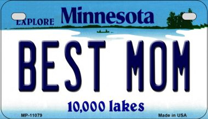 Best Mom Minnesota Novelty Metal Motorcycle Plate MP-11079