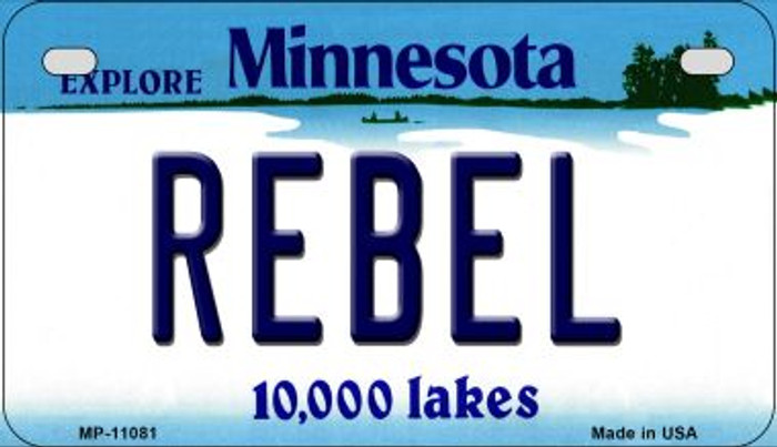 Rebel Minnesota Novelty Metal Motorcycle Plate MP-11081
