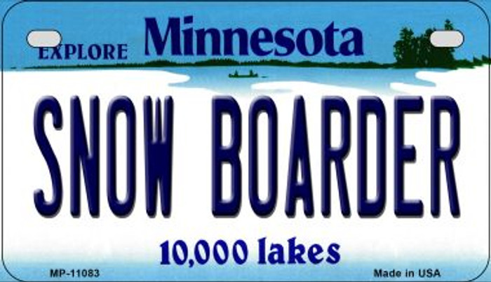 Snow Boarder Minnesota Novelty Metal Motorcycle Plate MP-11083
