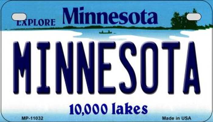 Minnesota Novelty Metal Motorcycle Plate MP-11032