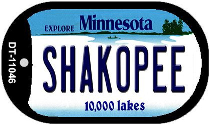 Shakopee Minnesota Novelty Metal Dog Tag Necklace DT-11046