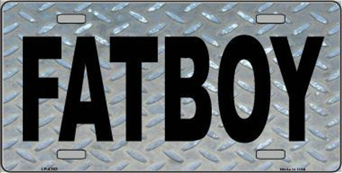 Fat Boy Diamond Metal Novelty License Plate LP-4203
