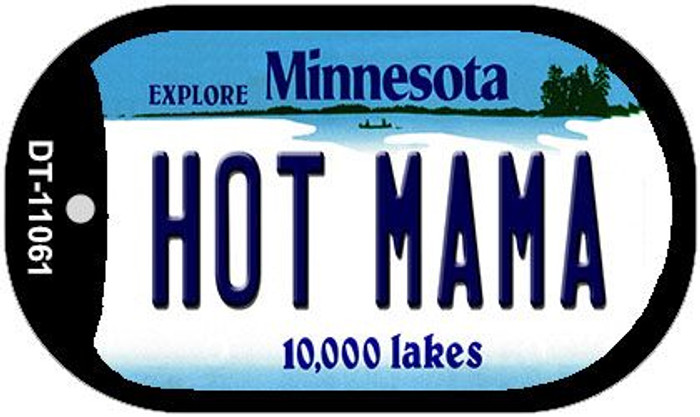 Hot Mama Minnesota Novelty Metal Dog Tag Necklace DT-11061