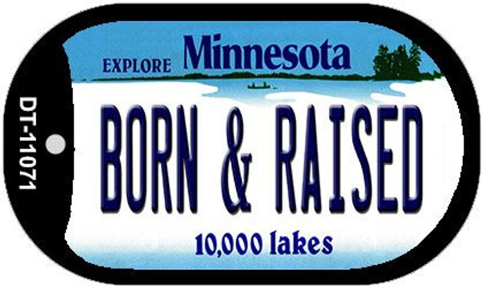 Born and Raised Minnesota Novelty Metal Dog Tag Necklace DT-11071