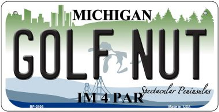 Golf Nut Michigan Novelty Metal Bicycle Plate BP-2806