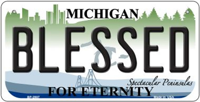 Blessed Michigan Novelty Metal Bicycle Plate BP-2807