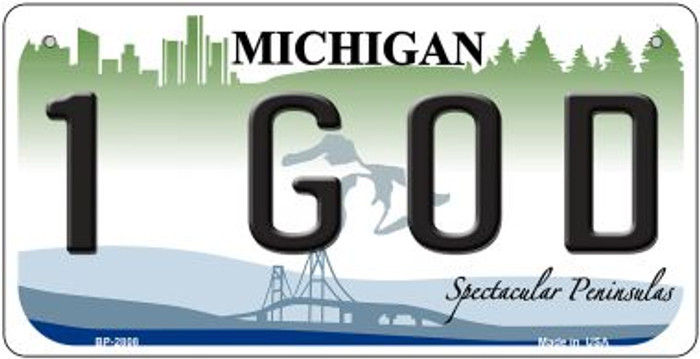 1 God Michigan Novelty Metal Bicycle Plate BP-2808