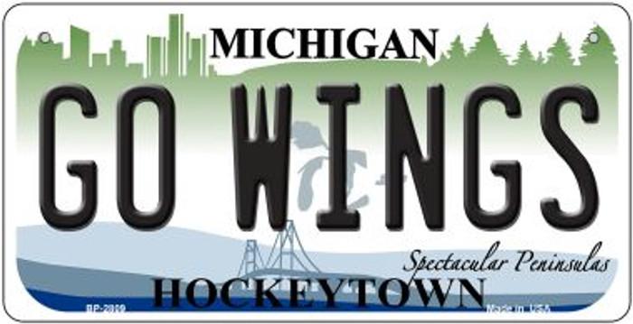 Go Wings Michigan Novelty Metal Bicycle Plate BP-2809