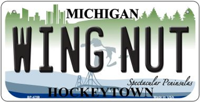 Wing Nut Michigan Novelty Metal Bicycle Plate BP-4759