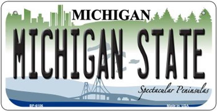 Michigan State University Novelty Metal Bicycle Plate BP-6106