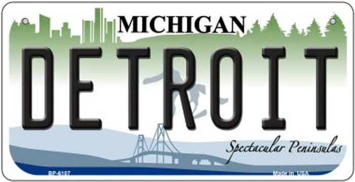 Detroit Michigan Novelty Metal Bicycle Plate BP-6107