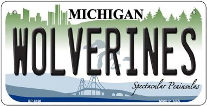 Wolverines Michigan Novelty Metal Bicycle Plate BP-6108