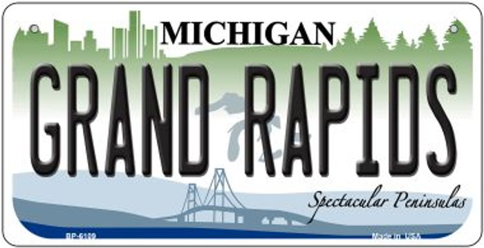 Grand Rapids Michigan Novelty Metal Bicycle Plate BP-6109