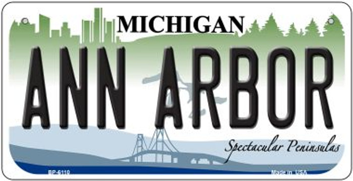 Ann Arbor Michigan Novelty Metal Bicycle Plate BP-6110
