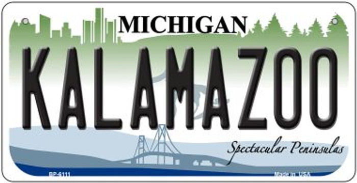 Kalamazoo Michigan Novelty Metal Bicycle Plate BP-6111