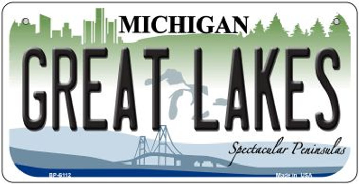 Great Lakes Michigan Novelty Metal Bicycle Plate BP-6112