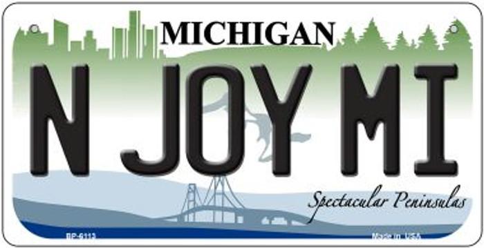 N Joy MI Michigan Novelty Metal Bicycle Plate BP-6113