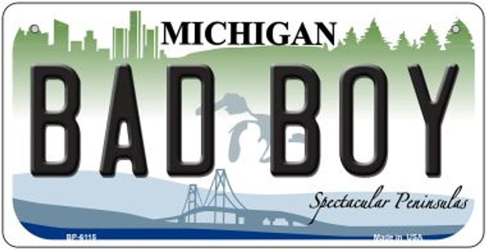 Bad Boy Michigan Novelty Metal Bicycle Plate BP-6115