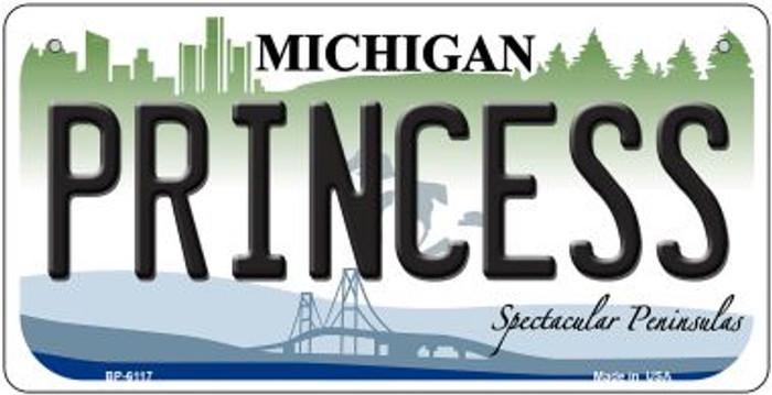 Princess Michigan Novelty Metal Bicycle Plate BP-6117