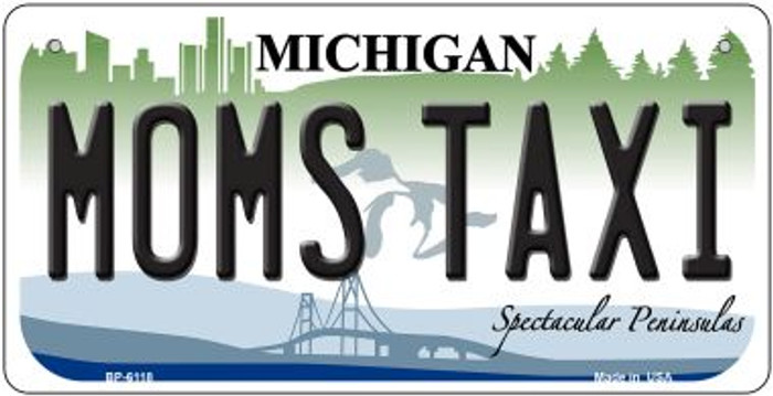 Moms Taxi Michigan Novelty Metal Bicycle Plate BP-6118