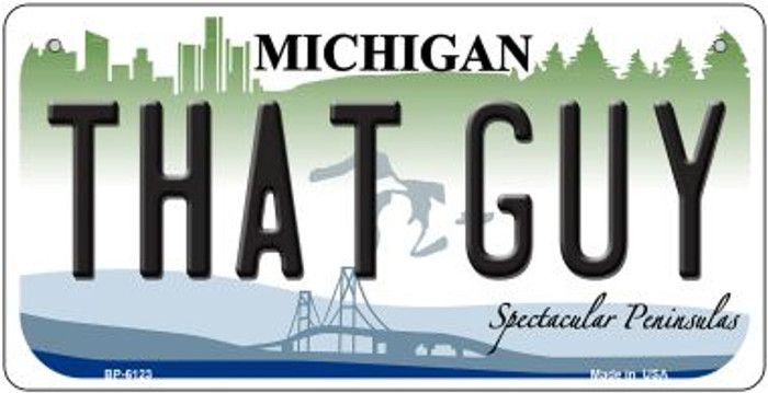That Guy Michigan Novelty Metal Bicycle Plate BP-6123